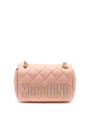 Moschino: shoulder bags - Quilted nylon shoulder bag