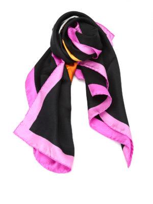 Moschino: Stoles & Shawls - Jewel bear print silk scarf