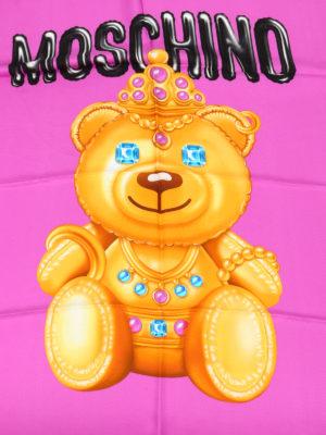 Moschino: Stoles & Shawls online - Jewel bear print silk scarf