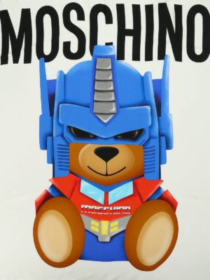 Moschino: Stoles & Shawls online - Transformers print silk shawl