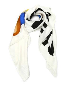 Moschino: Stoles & Shawls - Transformers print silk shawl