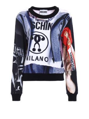 Moschino: Sweatshirts & Sweaters - All-over printed sweatshirt