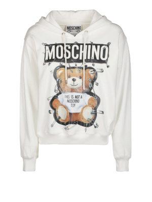 MOSCHINO: Felpe e maglie - Felpa stampa orso con cappuccio