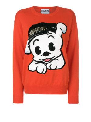 Moschino: Sweatshirts & Sweaters - Dog and logo cotton sweatshirt
