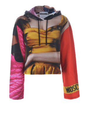 Moschino: Sweatshirts & Sweaters - Fashion Alert print cotton hoodie