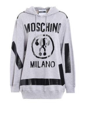 Moschino: Sweatshirts & Sweaters - Hand-taped hoodie