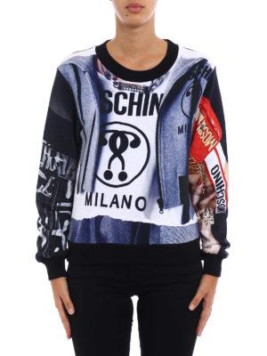 Moschino: Sweatshirts & Sweaters online - All-over printed sweatshirt
