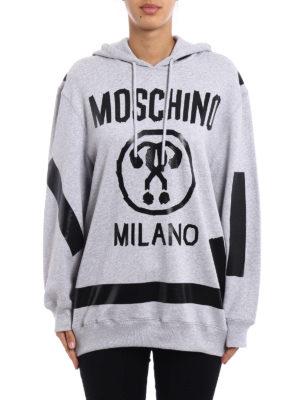 Moschino: Sweatshirts & Sweaters online - Hand-taped hoodie