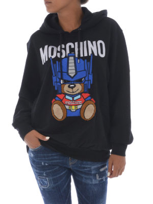 Moschino: Sweatshirts & Sweaters online - Maxi patch oversized hoodie