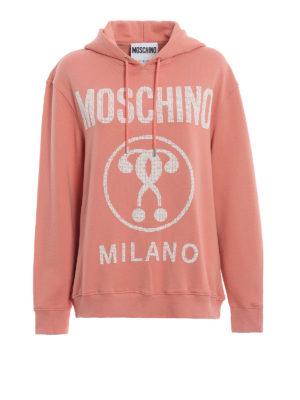 MOSCHINO: Felpe e maglie - Felpa Moschino in cotone con cappuccio