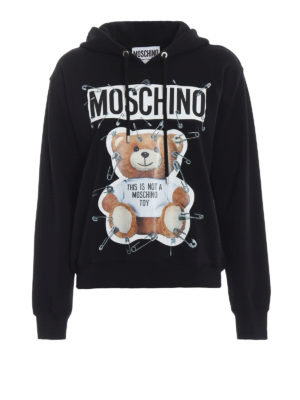 MOSCHINO: Felpe e maglie - Felpa nera This is not a Moschino toy