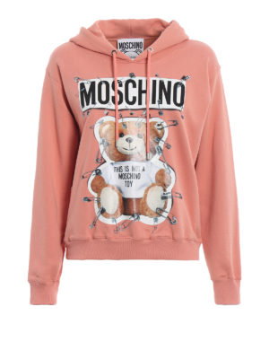 MOSCHINO: Felpe e maglie - Felpa color pesca This is not a Moschino toy
