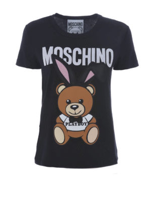 Moschino: t-shirts - Bear Playboy© print T-shirt