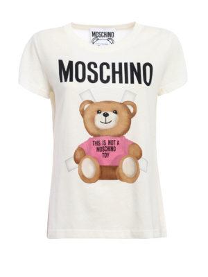 Moschino: t-shirts - Bear print T-shirt