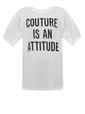 Moschino: t-shirts - Couture is an attitude maxi T-shirt