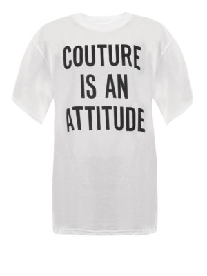 Moschino: t-shirts - Couture Is An Attitude T-shirt