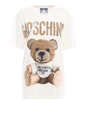 Moschino: t-shirts - Logo and bear print over T-shirt