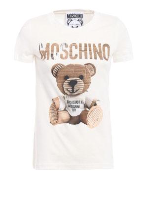 Moschino: t-shirts - Logo and bear print T-shirt