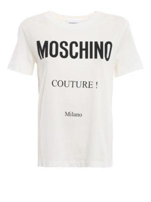 MOSCHINO: t-shirt - T-shirt bianca Moschino Couture