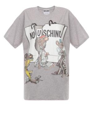 Moschino: t-shirts - Mo(u)schino maxi T-shirt