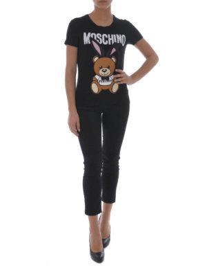 Moschino: t-shirts online - Bear Playboy© print T-shirt