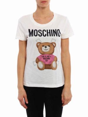 Moschino: t-shirts online - Bear print T-shirt