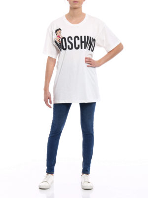 Moschino: t-shirts online - Betty Boop and logo print T-shirt