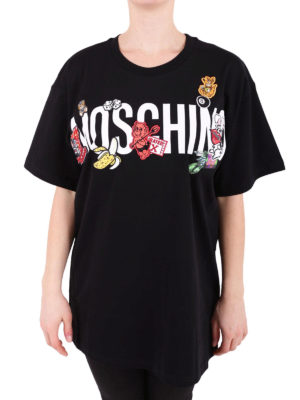 Moschino: t-shirts online - Contrasting patches T-shirt