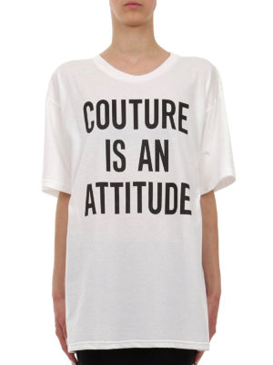 Moschino: t-shirts online - Couture Is An Attitude T-shirt