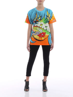 Moschino: t-shirts online - Juicicle print jersey T-shirt