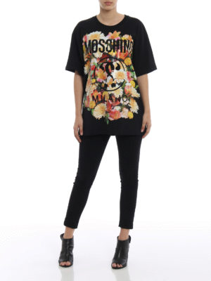 Moschino: t-shirts online - Oversize floral print T-shirt