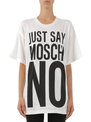 Moschino: t-shirts online - Oversize printed T-shirt