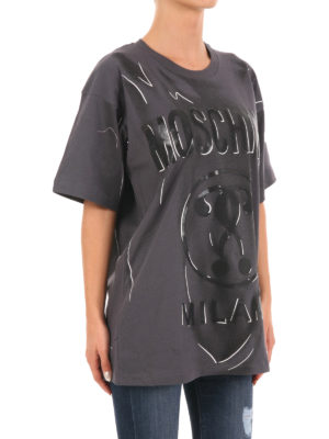 Moschino: t-shirts online - Printed cotton over T-shirt