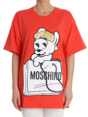 Moschino: t-shirts online - Pudge print jersey T-shirt