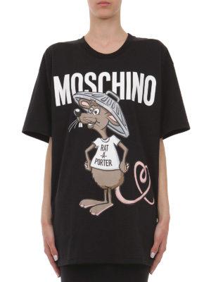 Moschino: t-shirts online - Rat-à-porter maxi T-shirt