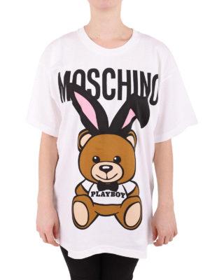 Moschino: t-shirts online - Teddy Playboy maxi print T-shirt