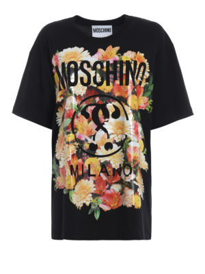 Moschino: t-shirts - Oversize floral print T-shirt