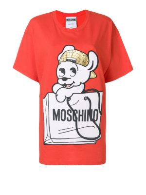 Moschino: t-shirts - Pudge print jersey T-shirt
