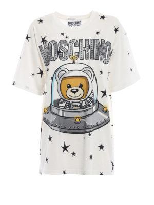 MOSCHINO: t-shirt - T-shirt Moschino orsacchiotto astronauta