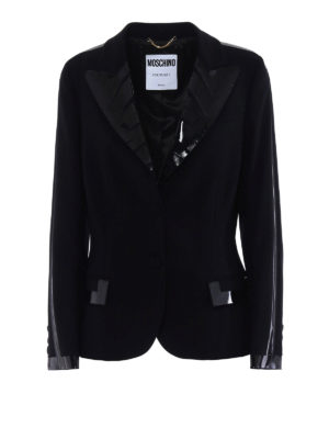 Moschino: Tailored & Dinner - Glossy tape detail formal blazer