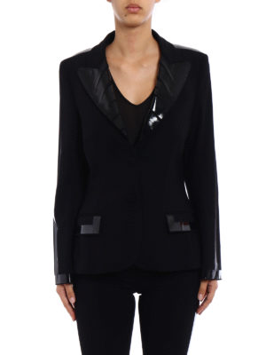 Moschino: Tailored & Dinner online - Glossy tape detail formal blazer