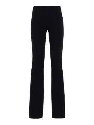 Moschino: Tailored & Formal trousers - Glossy side band cady trousers