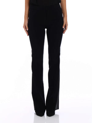 Moschino: Tailored & Formal trousers online - Glossy side band cady trousers