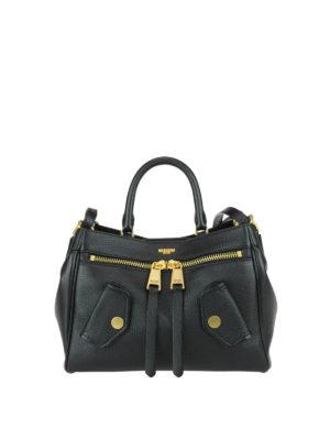 Moschino: totes bags - B-Pocket deerskin handbag