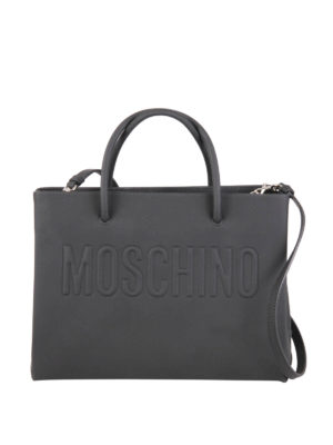 Moschino: totes bags - Minimal leather tote