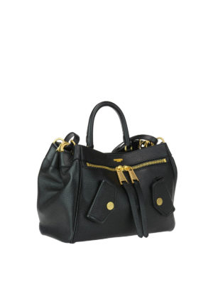 Moschino: totes bags online - B-Pocket deerskin handbag