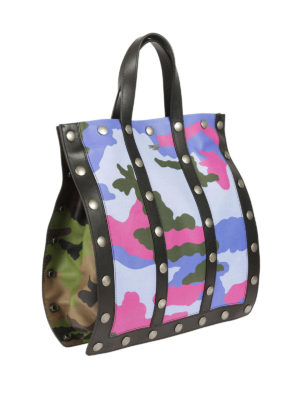 Moschino: totes bags online - Camouflage sheep leather tote