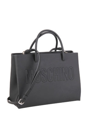 Moschino: totes bags online - Minimal leather tote
