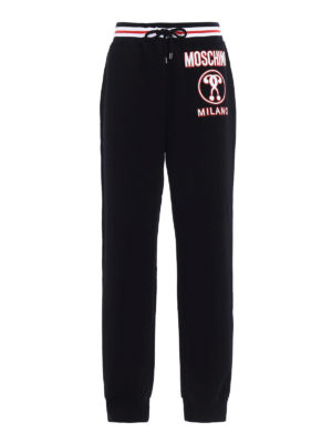 Moschino: tracksuit bottoms - Logo print jogging pants