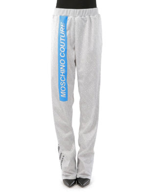 Moschino: tracksuit bottoms online - Printed loose track bottoms